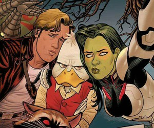 guardians of the galaxy, howard the duck, and duck face selfie image