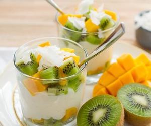 food, kiwi, and fruit image
