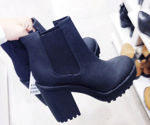 chunky, chunky boots, and shoes image