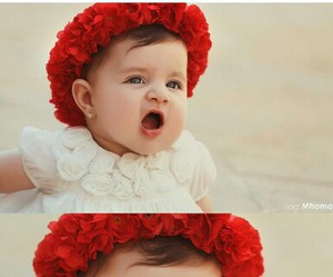 baby and red image
