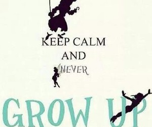 peter pan and never grow up image