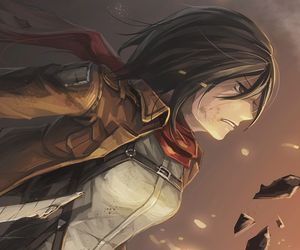 attack on titan, anime, and mikasa image