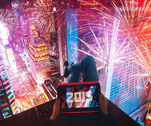 2015, fireworks, and new year image