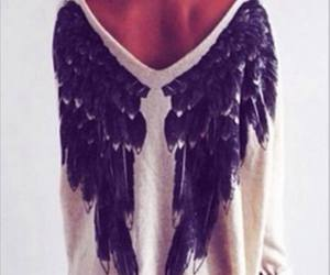 angel, wings, and sweater image