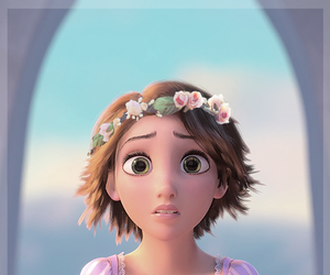 disney, flower crown, and rapunzel image