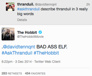 lee pace, thranduil, and twitter image