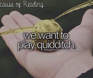 quidditch, hp, and reading image