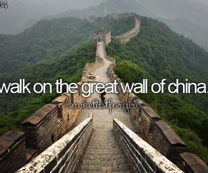 china, great wall of china, and walk image