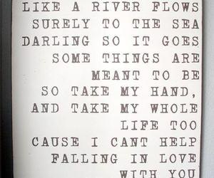 love, Elvis Presley, and Lyrics image