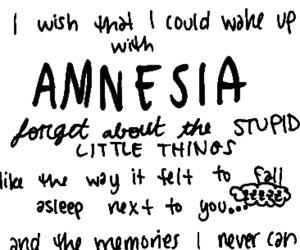 amnesia, Lyrics, and 5 seconds of summer image