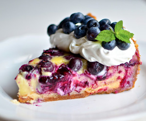 cake, blueberry, and sweet image