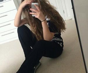 instagram, girl site model, and black image