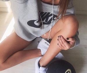 nike, girl, and sport image
