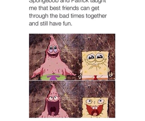 patrick, spongebob, and friendship image