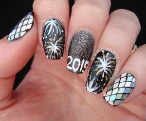 new year, nail art, and nails image