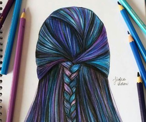 braid, perfect, and colorful image