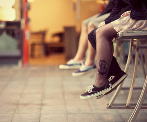 tattoo, vans, and anchor image