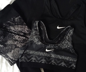 black, fitness, and nike image