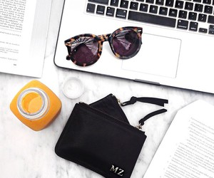 style, laptop, and sunglasses image