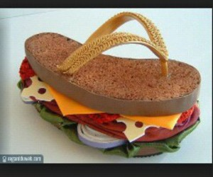 sandwich, food, and shoes image