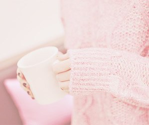 pink, pastel, and sweater image