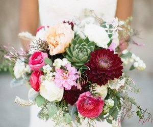 bouquet, wedding, and flower image