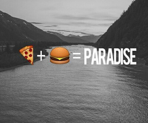 burger, happiness, and pizza image