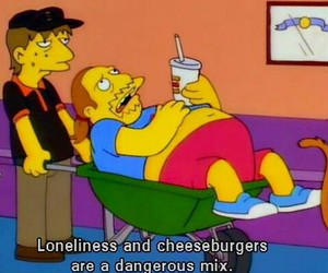 the simpsons, loneliness, and simpsons image