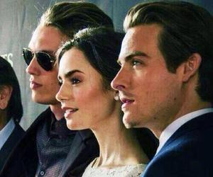 lily collins, Jamie Campbell Bower, and Kevin Zegers image