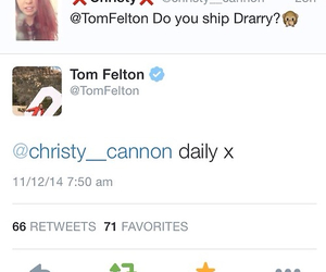 ship, tom felton, and drarry image