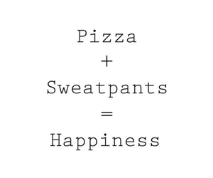 happiness, happy, and pizza image