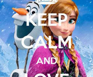 frozen, keep calm, and love image
