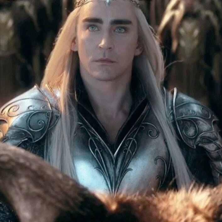 lee pace, the hobbits, and thranduil image