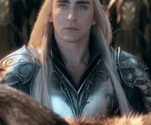 lee pace, thranduil, and the hobbits image