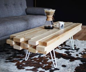 coffee table, diy, and interior image