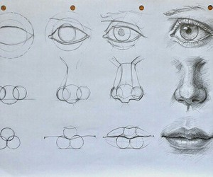 draw, Easy, and eye image