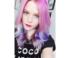 beautiful, colored hair, and grunge image