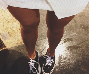 vans, legs, and style image
