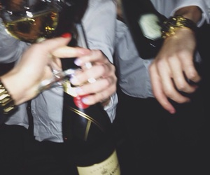 champagne, drink, and night image