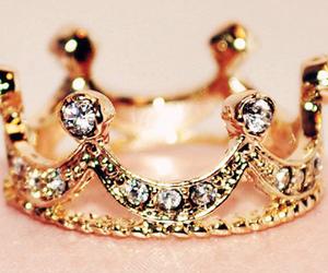 crown, princess, and gold image
