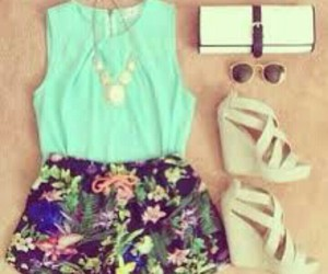 fashion, turquoise, and summer image
