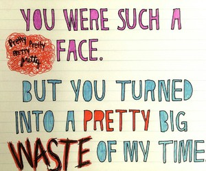 pretty, sleeping with sirens, and love image
