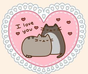love, cat, and pusheen image