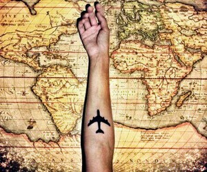 fly away, world map, and go image