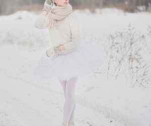 ballet, winter, and snow image