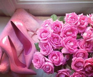 pink, rose, and shoes image