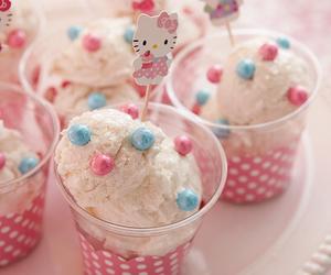 hello kitty, pink, and ice cream image