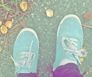 autumn, blue, and shoes image