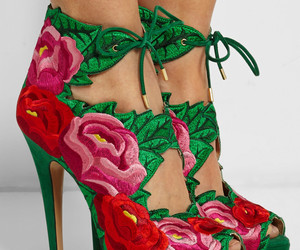 fashion, fashion shoes, and floral heels image