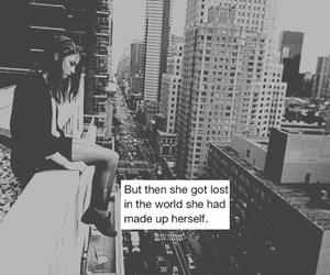 city, girl, and inspiration image